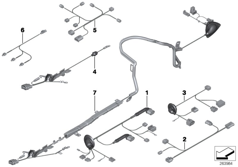 2012 BMW Wiring harness, electric power steering. Sets