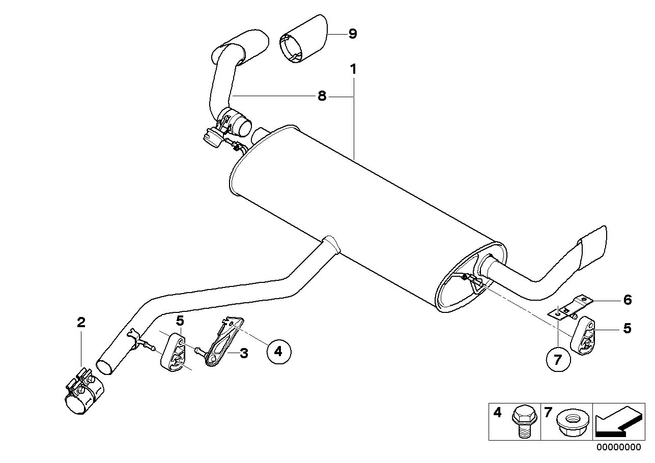 Bmw X5 Tailpipe Tip Chrome Rear Exhaust System