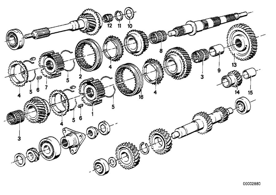 BMW 320i Spacer. 28X40X2, 2. SET, GETRAG, GEAR