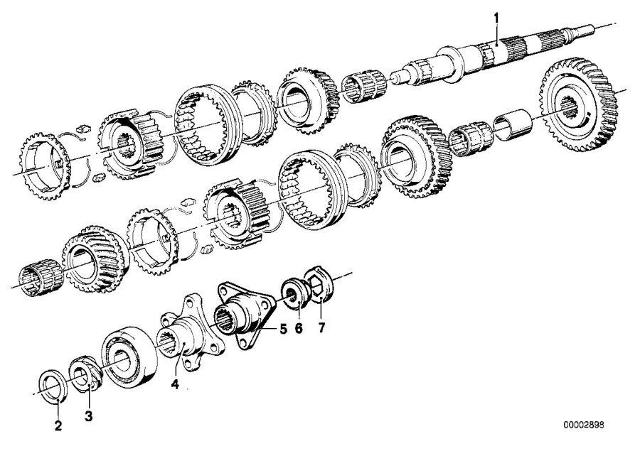 BMW 320i Spacer. 33, 1X42X2, 10. Transmission, Zyl, WHEEL