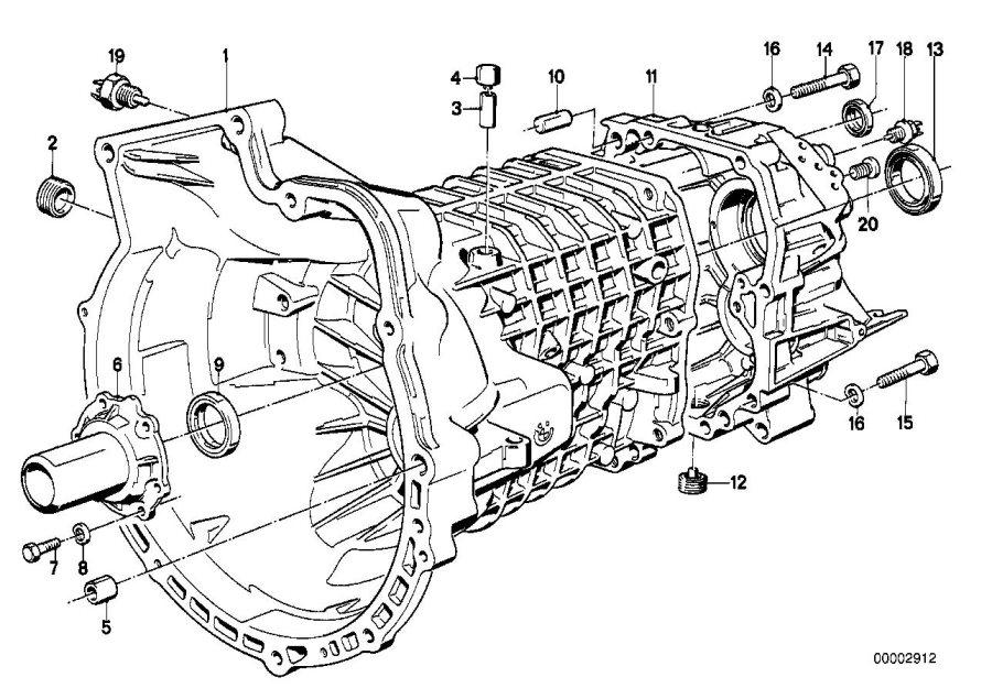 BMW 318is Screw plug. M24X1, 5. Housing, Attaching, Getrag