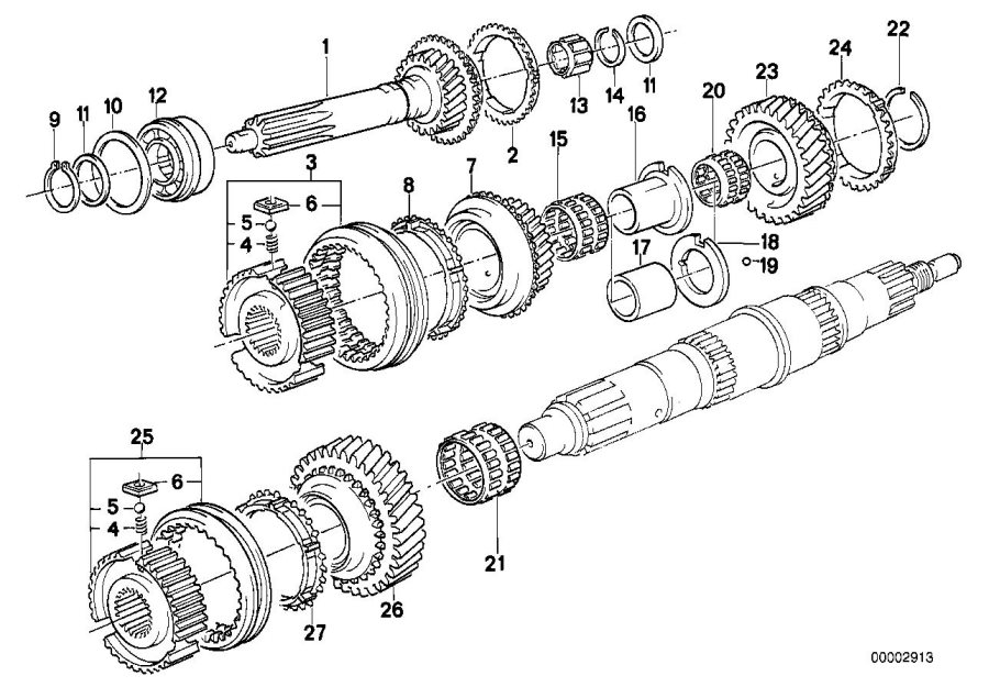 BMW 318i Guide sleeve 1st and 2nd gear. Transmission