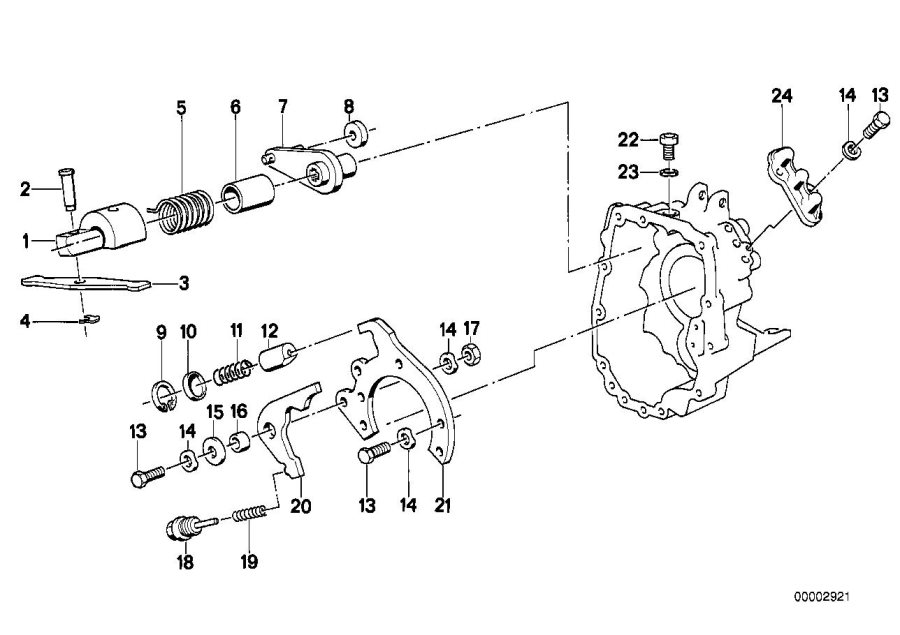 BMW M5 3.6 Compression spring. Inner, Gear, Shifting