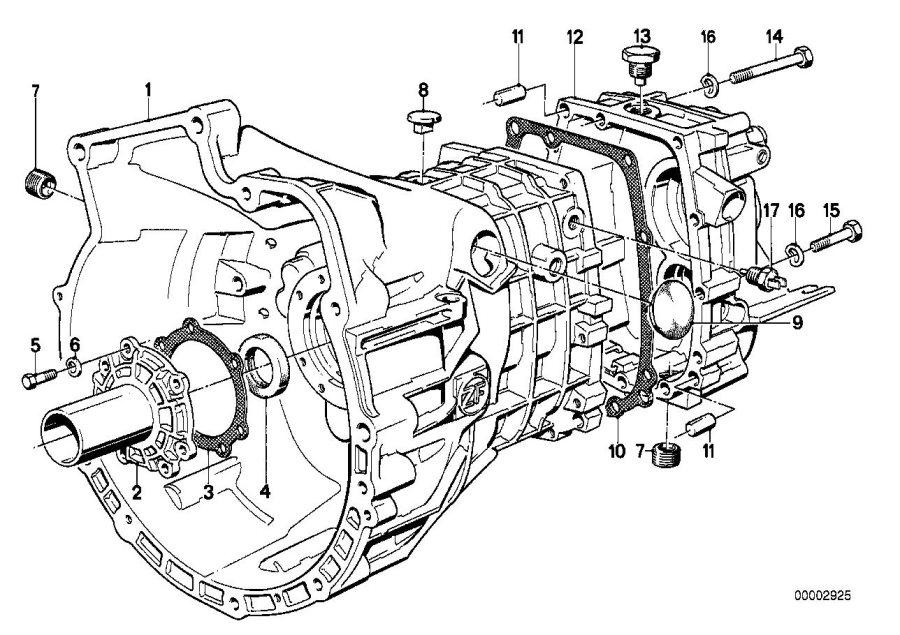 BMW 318i Cap. Transmission, Individual, Housing, Attaching