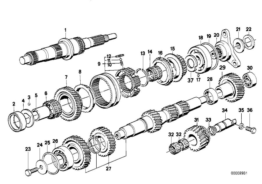 BMW M5 3.6 Grooved ball bearing. 80x30x21. Transmission