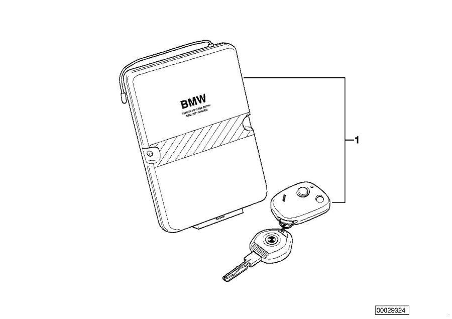 BMW 323Ci Installation kit alarm system. Information