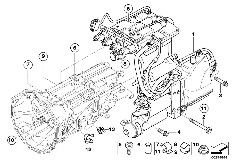BMW M5 Hydraulic unit. Transmission, Individual