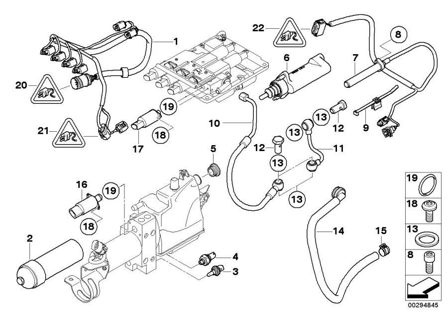 BMW 535i Temperature sensor water/oil. ALPINA, System