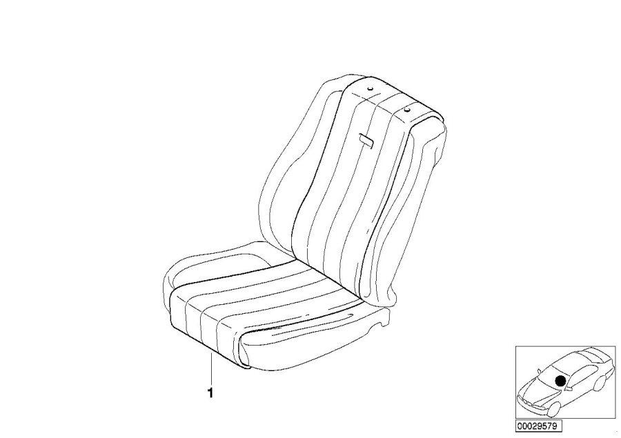 BMW 323Ci sheepskin seat saver. E46 CONV TAN. Interior