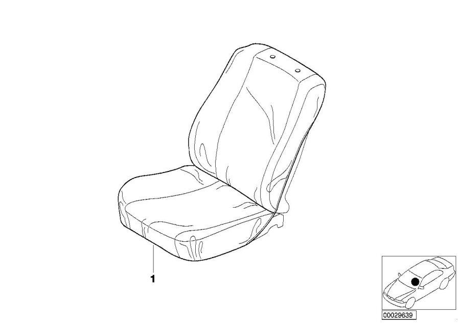 BMW M3 Seat cover. E46/C BEIGE. Easy, Interior