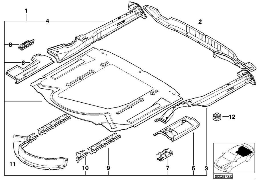 BMW M5 Exterior right rear silencer bracket. Body, floor