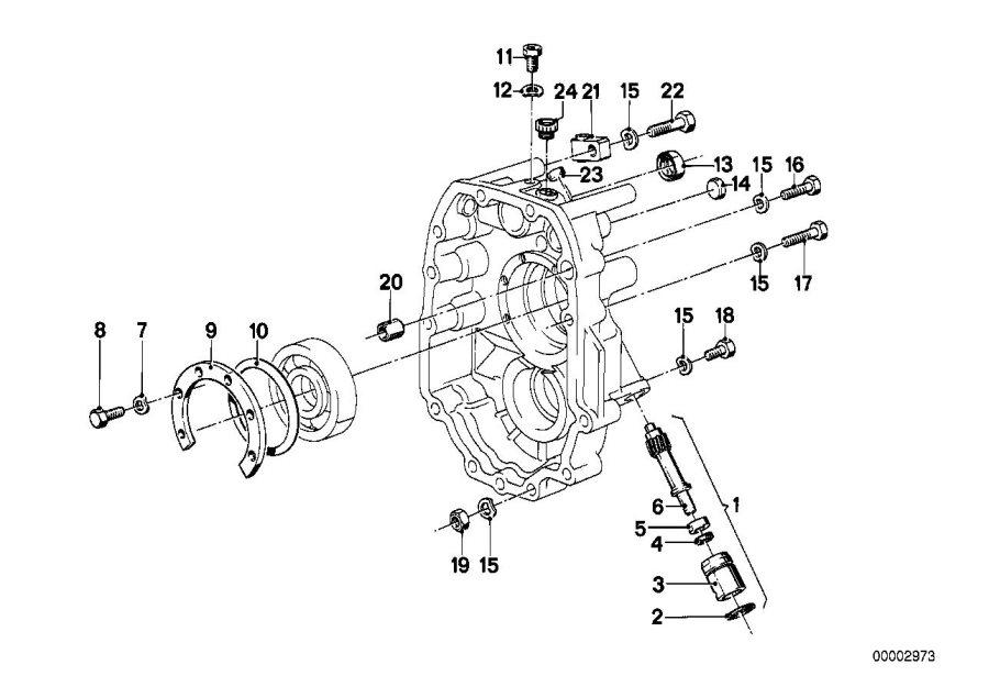 BMW 535i Ventilation valve. Getrag, Transmission
