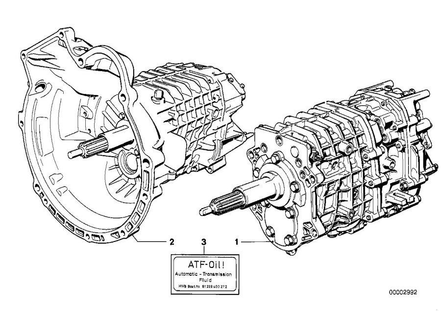 1980 BMW 633CSi Exchange 5 speed (overdrive) gearbox. 260