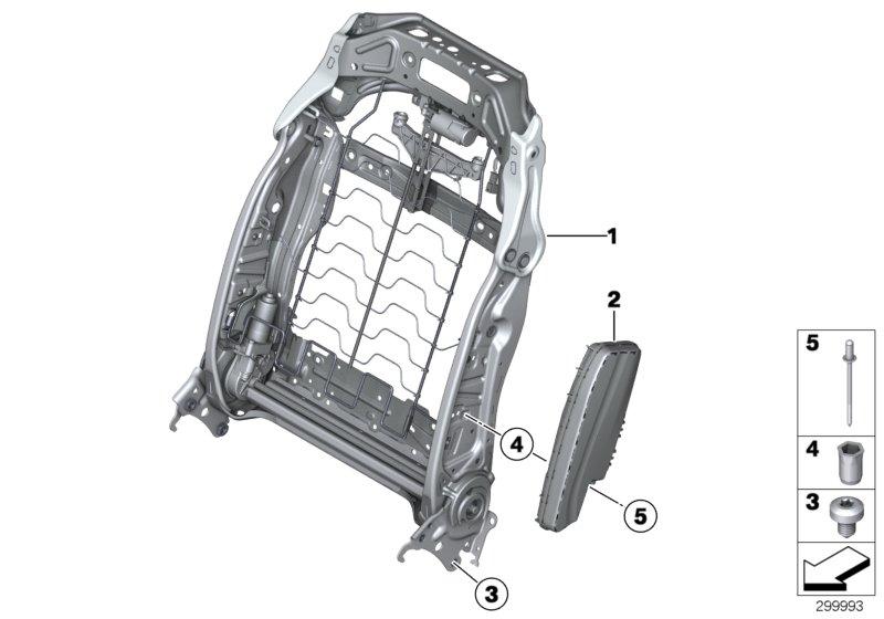 BMW 750i Blind rivet. AL-A2. ALPINA, Front, Body