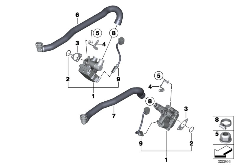 BMW M5 Idle control device. ACTUATOR, Fuel, System