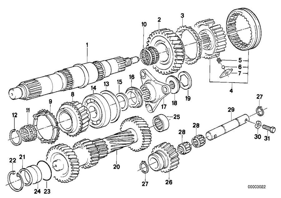 BMW 533i Lock Ring. 44X1, 75. WHEEL, GETRAG, GEAR