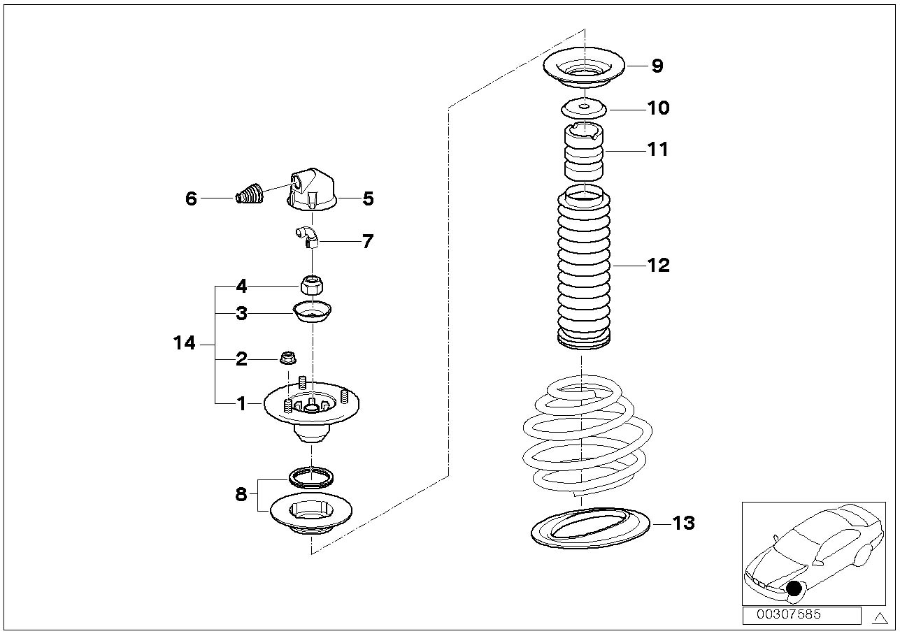 Bmw 530i Support Guide Suspension Spring