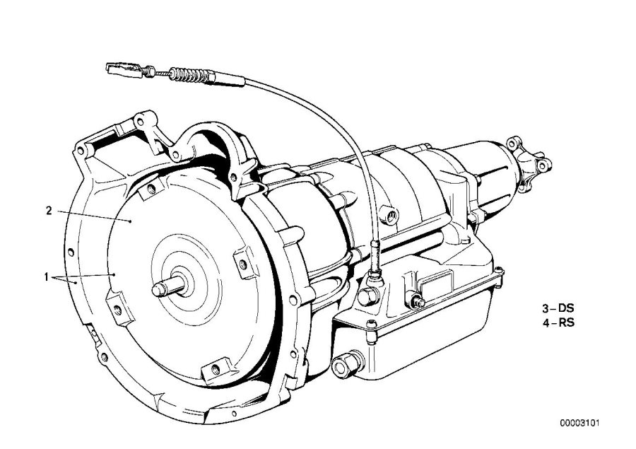 BMW 320i Repair set ax-bearing. 3hp22. Transmission