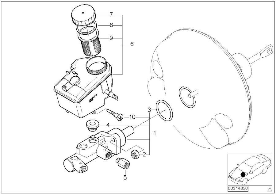 BMW 325i Brake master cylinder. Brakes, maintenance, tank