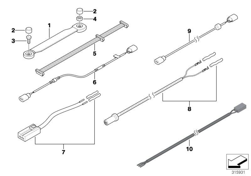 BMW 135i Adapter lead, interior lighting. X10293. Body