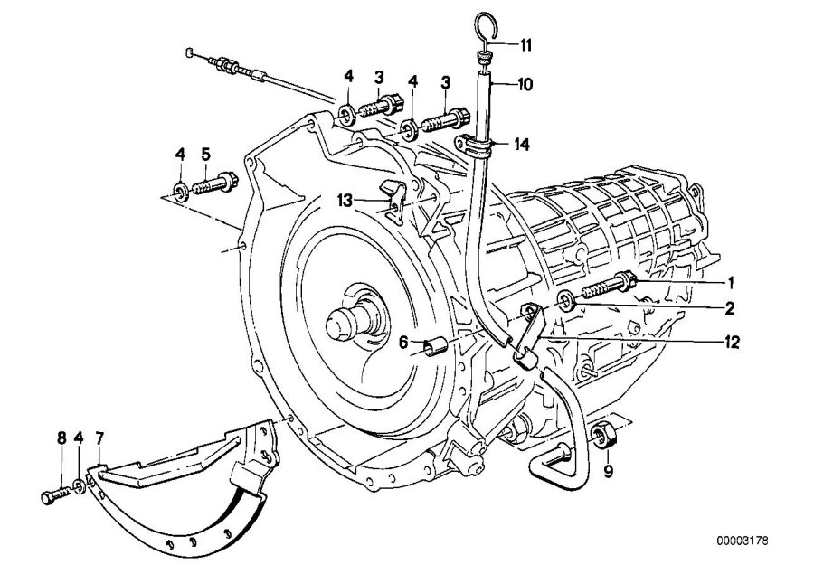 BMW 735i Dowel. D=14, 5/11, 0MM. Mounting, HOUSING