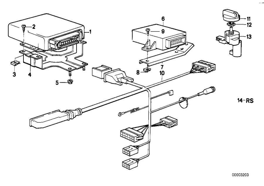 BMW 635CSi Repair kit electrical plug transmission. Eh