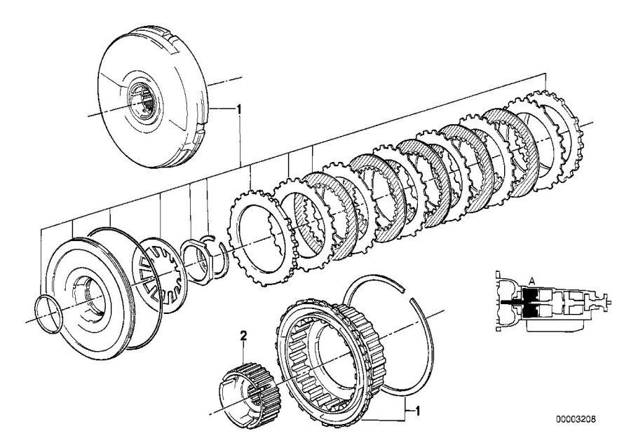 BMW 318i Clutch. Transmission, Individual, Drive