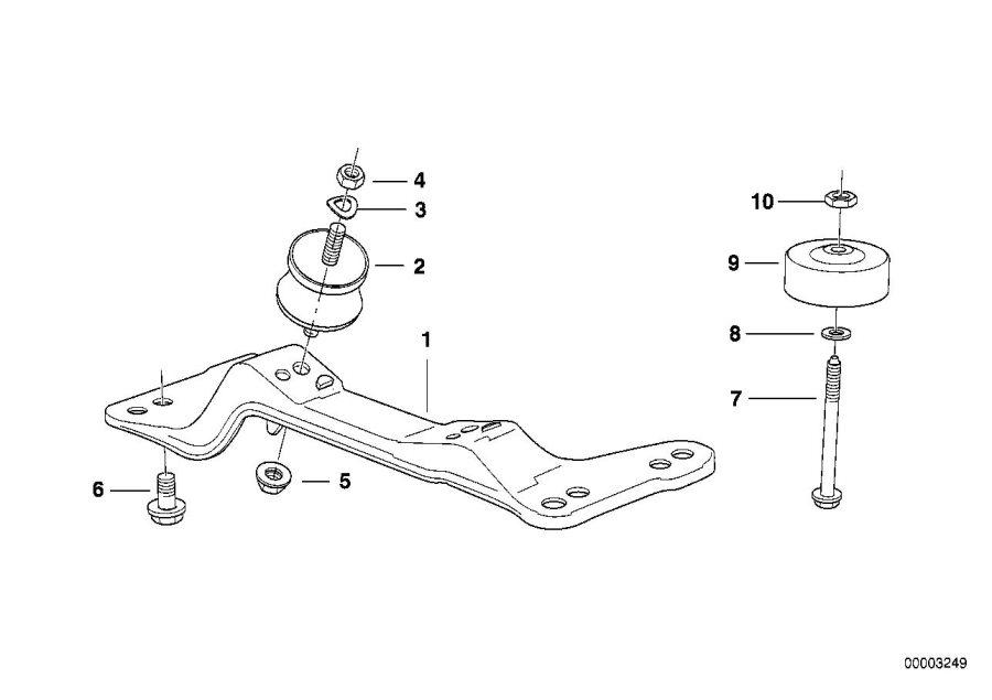 BMW 318is Vibration absorber. Suspension, Transmission