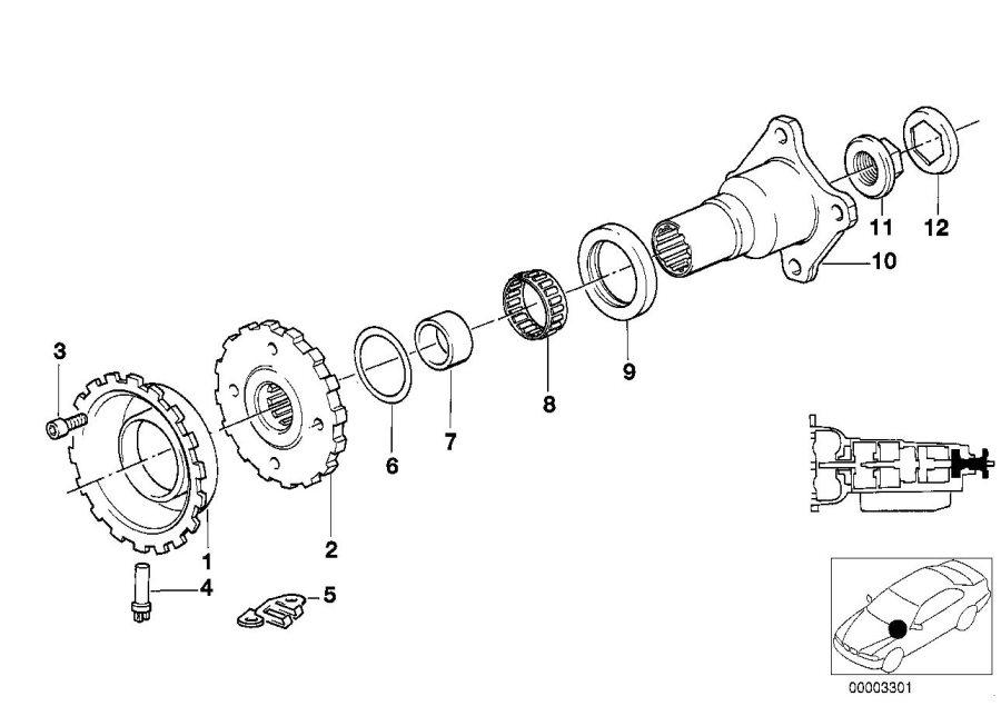 BMW 850Ci Pulse generator. Control, Transmission, Output
