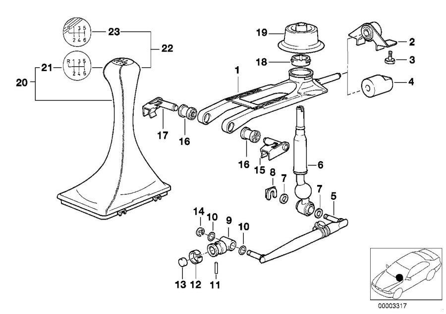 BMW 850Ci Bearing, shifting arm. Transmission, Gearshift