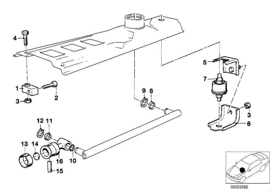 BMW 318i Stop buffer. Transmission, Gearshift, Mechanical