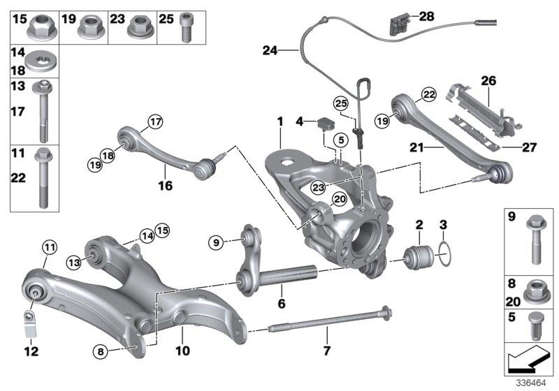 BMW X6 Tubing support, right. Suspension, Axle, Rid