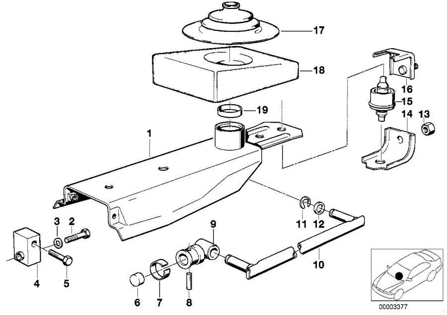 BMW 535i Sound absorber. Transmission, gearshift