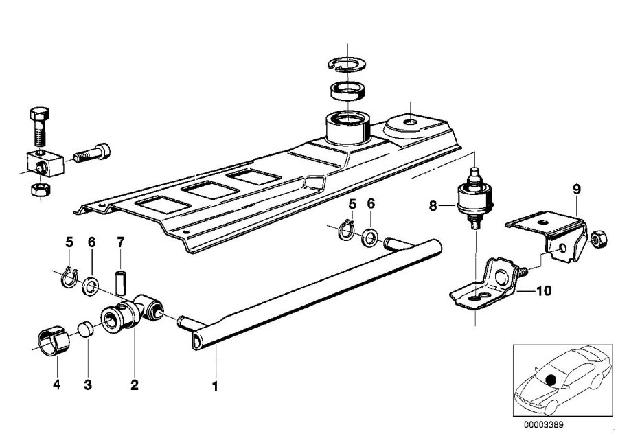 BMW 320i Stop buffer. Transmission, Gearshift, Mechanical