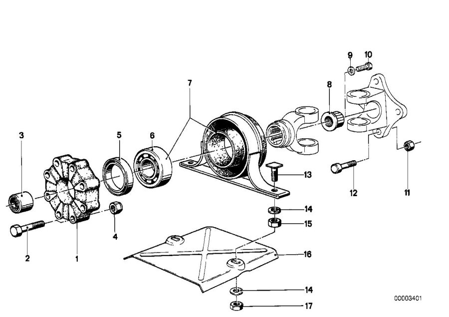 BMW 320i Universal joint. D=76mm/10. Drive, shaft, zyl