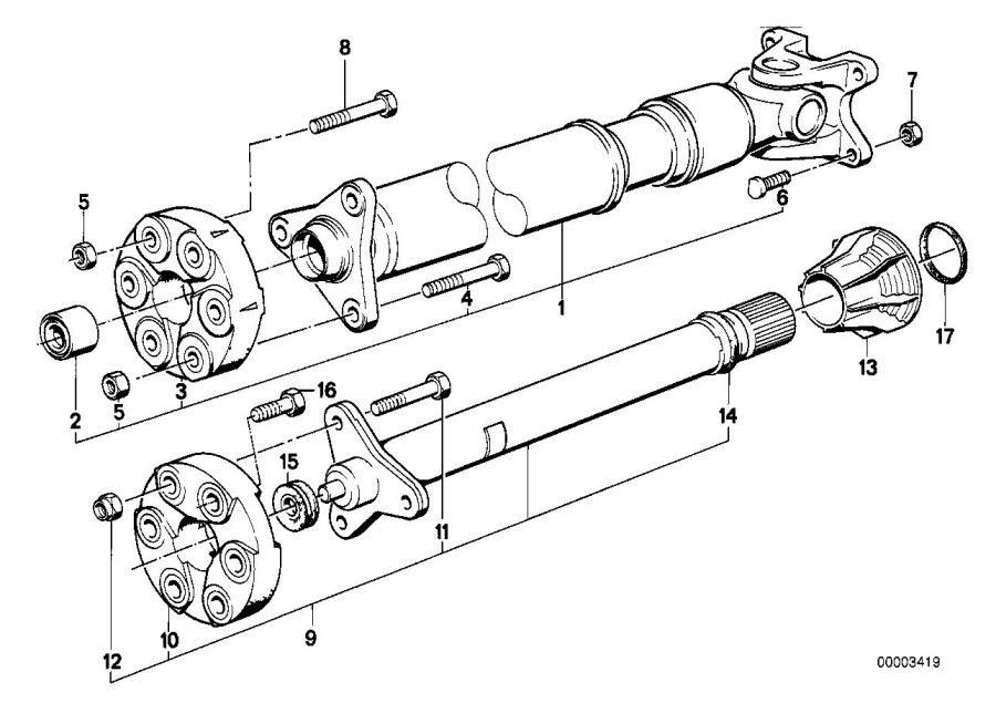 BMW 325ix Drive Shaft. Single, Components, WHEEL