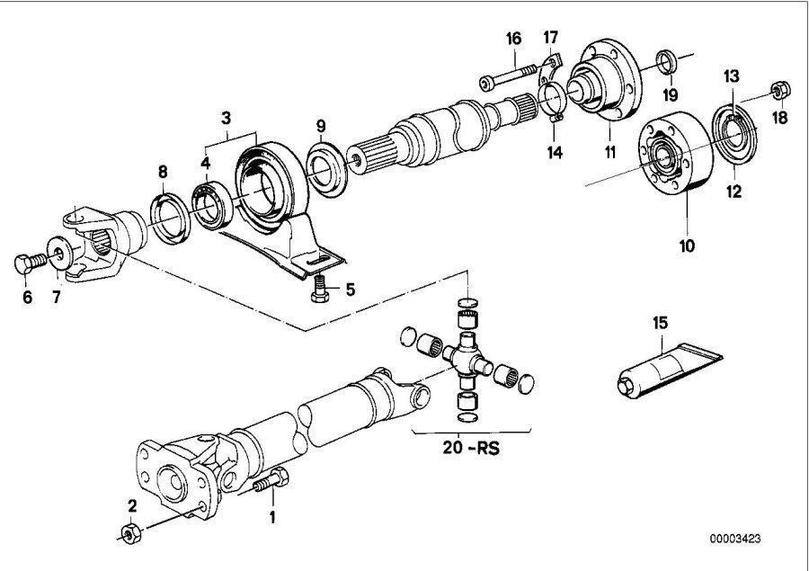 BMW 535i Self-locking hex nut. M8. Drive, shaft, joint
