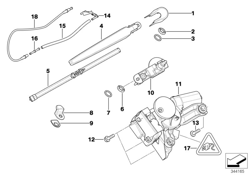 BMW 128i Universal MPQ socket housing uncoded. 3 POL. Rear