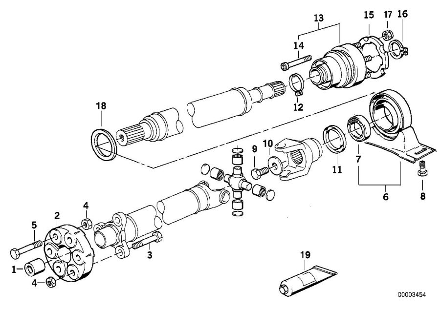 BMW 850Ci Universal joint. Lk=110mm/14. Drive, shaft