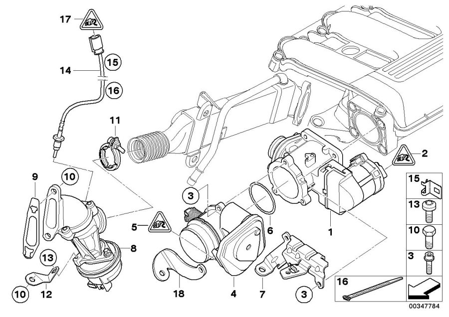 BMW 135i Receptacle housing. Steering, Engine, System