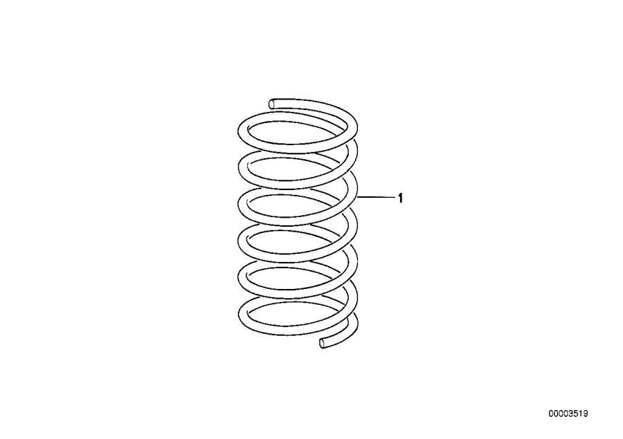 BMW 318i Coil spring. Suspension, front, axle