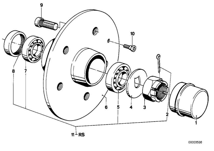BMW 530i Tapered roller bearing. 19x45, 23x15, 49. Bavaria