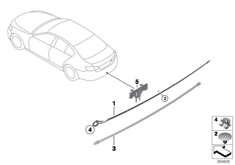 BMW 435i Sensor lead, Smart Opener, bottom. ALPINA, System