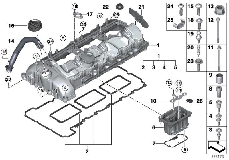 BMW M3 Profile-gasket. Head, cylinder, mounting
