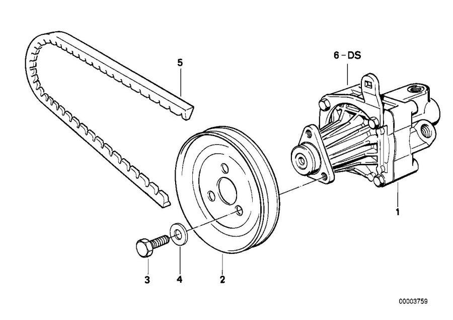 BMW 525i Exch-vane pump. ZF. Steering, Suspension, Power