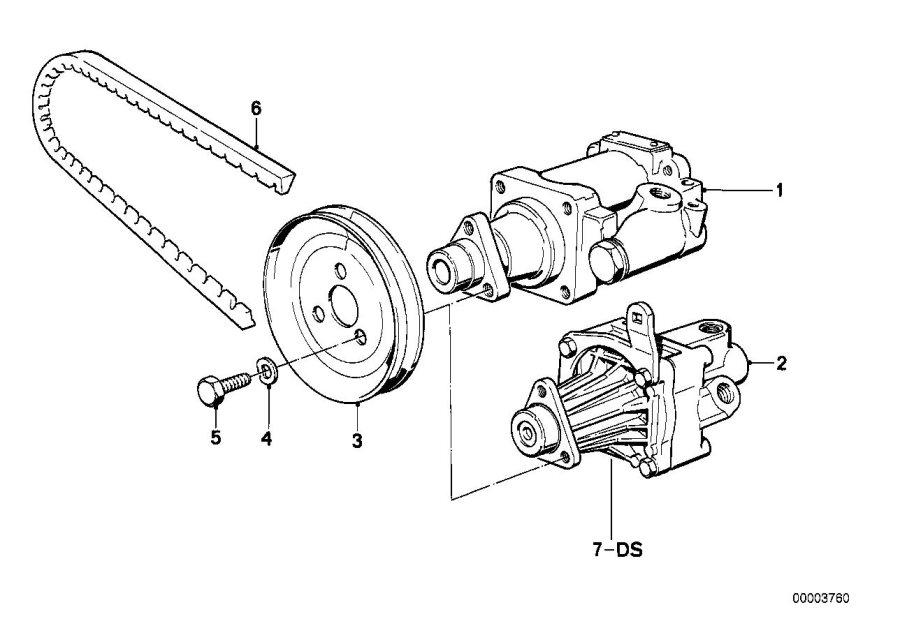 BMW 528e Gasket set vane pump. Zf. Steering, hydro