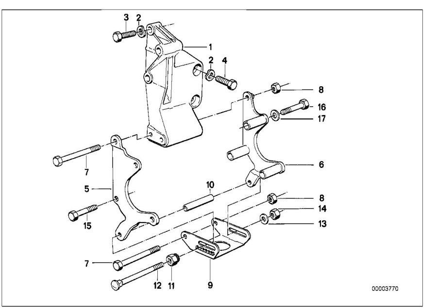 BMW 735i Hex bolt. M8X105. Alternator, Pump, System