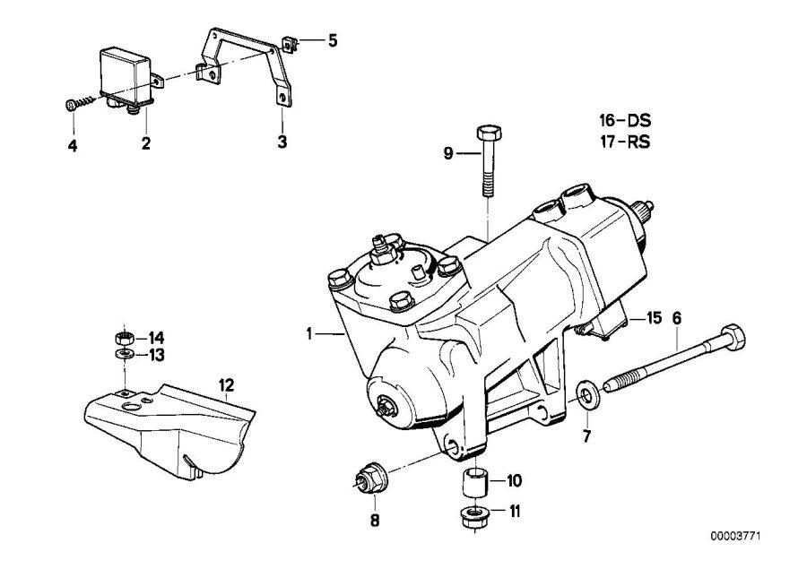 BMW 850Ci Repair kit. Steering, Hydraulic, Suspension
