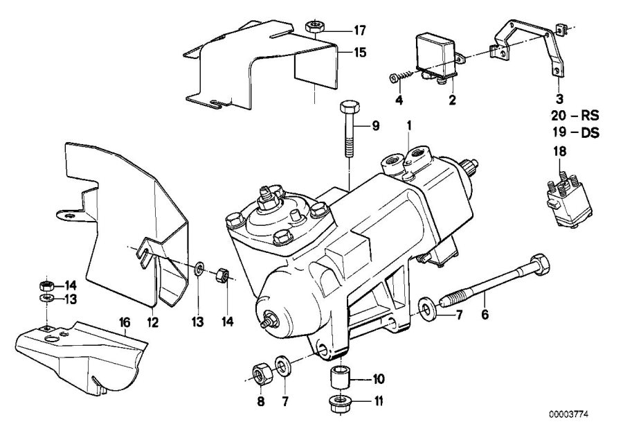 BMW 750iL Control unit servotronic. Steering, suspension