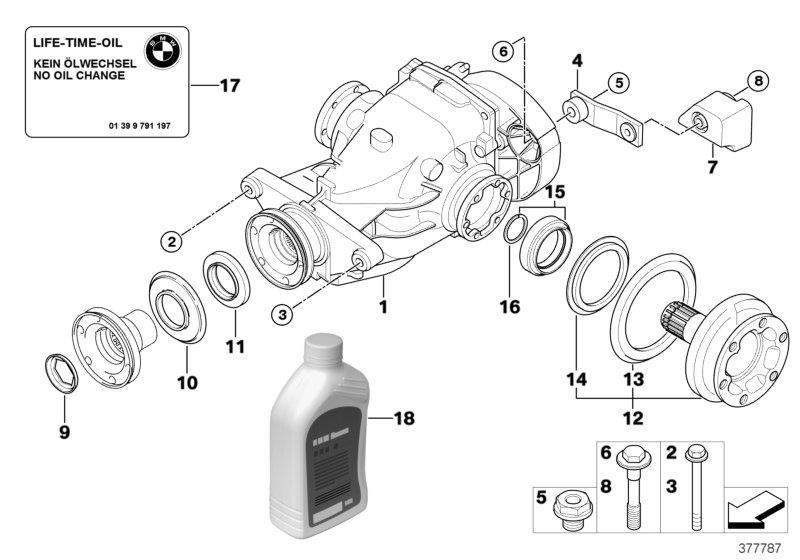 BMW 330xi Hypoid Axle Oil G1. 3 X 0, 5L. Rex, Drive